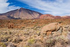 Volcano Pico del Teide Tenerife kanariefågelöar, Spanien arkivbilder