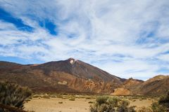 The volcano Pico del Teide on the Tenerife royalty free stock images