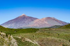 Volcano Pico El Teide and Pico Viejo Stock Photography