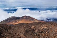 Volcano Pico Viejo krater, Tenerife kanariefågelöar, Spanien royaltyfri foto