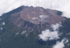 Volcano from plane Stock Images