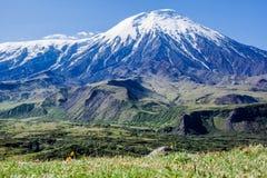 Volcano Plosky Tolbachik, Kamchatka Royalty-vrije Stock Fotografie