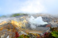 Volcano Poas Royalty Free Stock Photography
