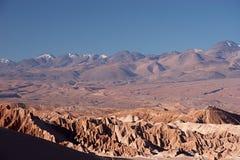 Volcano range in Atacama Desert, Chile Royalty Free Stock Photo