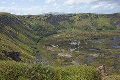 Volcano Rano Kau, Easter Island, Chile Stock Images