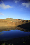 Volcano reflection. Viti explostion crater Iceland with mirror image reflection Royalty Free Stock Images