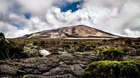 Volcano Reunion Island. Photo of the Piton de la Fournaise (Volcano), Reunion Island Stock Photo