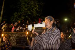 VOLCANO RITUAL JAVANESE NEW YEAR Royalty Free Stock Image