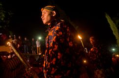 VOLCANO RITUAL JAVANESE NEW YEAR Stock Photos