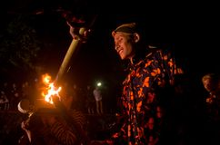 VOLCANO RITUAL JAVANESE NEW YEAR Royalty Free Stock Images