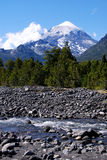 Volcano and River royalty free stock photos