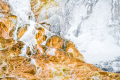Volcano rock texture background - mammoth hot springs yellowston Stock Photography
