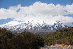 Volcano Ruapechu en Nueva Zelanda Imagenes de archivo