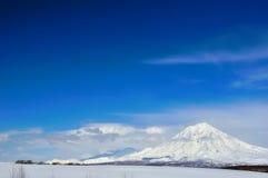 Volcano in Russia stock image