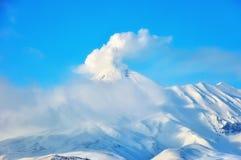 Volcano in Russia stock photos