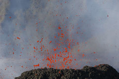 Volcano's eruption. Eruption of Piton de la Fournaise, Reunion island national parc, october 2010 Stock Images