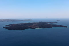 Volcano on Santorini island Royalty Free Stock Photography