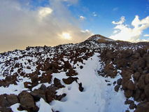Volcano scree slope Stock Photos