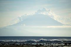 Volcano and sea Stock Photo