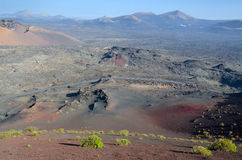 Volcano slope Stock Image