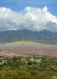 Volcano slopes and scenery from Maui, Hawaii Royalty Free Stock Photography