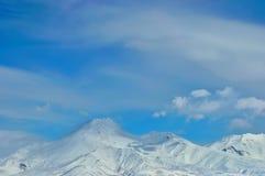 Volcano in Russia stock photo