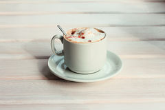 Volcano special cappuccino taste Royalty Free Stock Photography