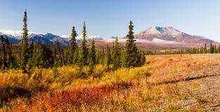 Volcano Stands antiga no Território do Norte de Alaska foto de stock