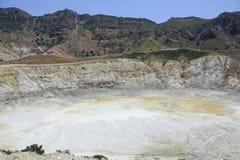 Volcano Stefanos na ilha Nisyros, Grécia Imagens de Stock