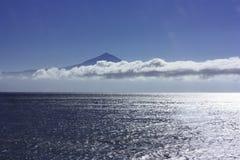 Volcano. Stitched panorama of volcano Teide, Tenerife Stock Image