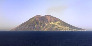 The Volcano of Stromboli Stock Photo