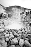 Volcano sulfur steam pit Royalty Free Stock Photography