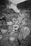 Volcano sulfur water stream Stock Photography