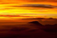 Volcano sunrise, Indonesia Stock Photography