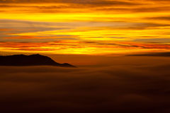 Volcano sunrise, Indonesia Royalty Free Stock Photo