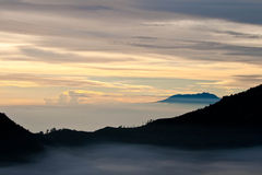 Volcano sunrise, Indonesia Stock Photography