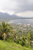 Volcano Tavurur and Rabaul Caldere Royalty Free Stock Photos