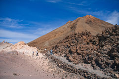 Volcano Teide. View of Teide peak on Tenerife, Canary islands Royalty Free Stock Photos