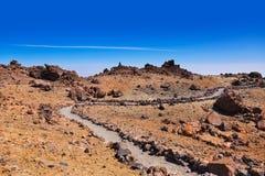 Volcano Teide na ilha de Tenerife - Espanha amarela Fotografia de Stock
