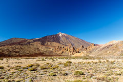 The volcano Teide and National Park. The place of shooting of the film One Million Years BC, Clash of the Titans and Wrath of the Titans. The volcano and its stock photo