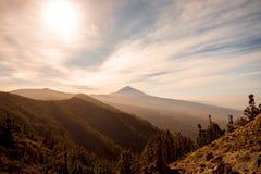 Volcano Teide no tempo nevoento Foto de Stock Royalty Free