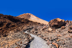 Volcano Teide in Tenerife island - Canary Spain Stock Image