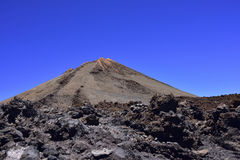 Volcano Teide, Tenerife 3718 meters. Natural Heritage of UNESC stock photography