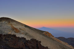 Volcano Teide, & x28;Tenerife& x29; 3718 meters. Natural Heritage of UNESC royalty free stock photography