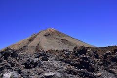 Volcano Teide, Tenerife 3718 meters Natuurlijk erfgoed van UNESC stock fotografie
