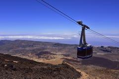 Volcano Teide, Tenerife 3718 meters Natuurlijk erfgoed van UNESC stock afbeelding