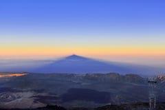 Volcano Teide, Tenerife 3718 meters Natuurlijk erfgoed van UNESC royalty-vrije stock foto