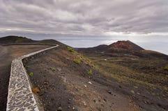 Volcano Teneguia in Fuencaliente - Los Canarios Volcanic Landsca Stock Images