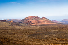 Volcano in Timanfaya, Lanzarote Royalty Free Stock Images