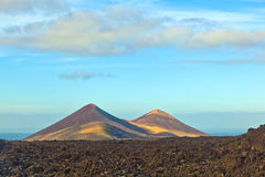 Volcano in timanfaya national park Royalty Free Stock Image